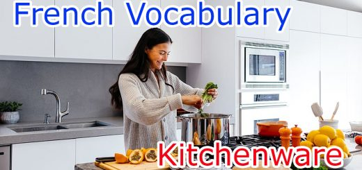 Kitchenware vocabulary in French
